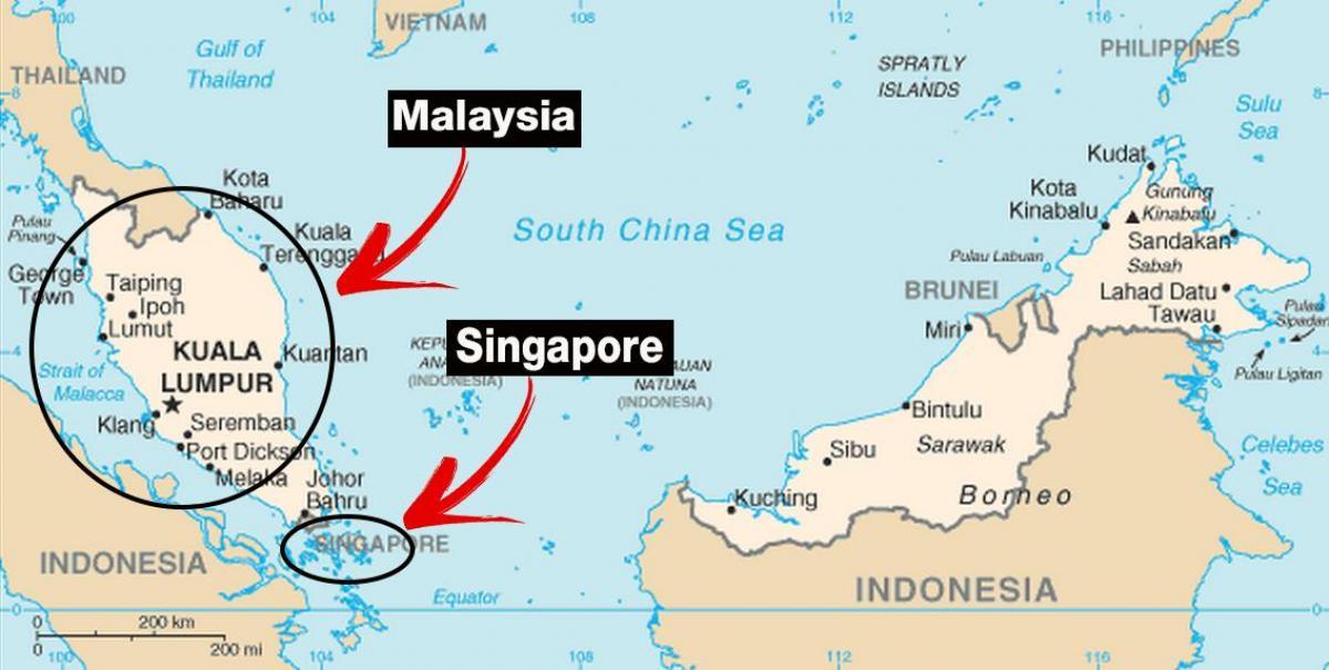singapore karta Singapore i världen karta   Singapore världskarta (Republic of  singapore karta